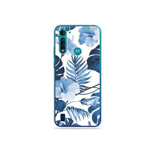 Capa para Moto G8 Power Lite - Flowers in Blue
