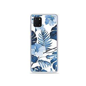 Capinha Flowers in Blue para Galaxy Note 10 Lite