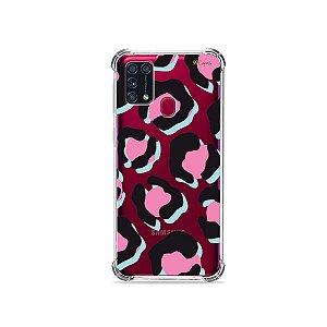 Capinha para Galaxy M31 - Animal Print Black & Pink