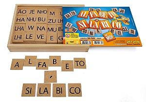 Jogo Educativo Alfabeto Silábico 360 pçs em MDF - Jottplay