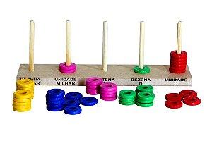 Abaco aberto 50 argolas de plástico - PVC enc.