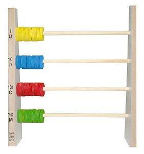 Abaco aluno 40 argolas de MDF - PVC enc.