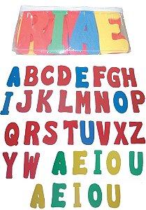 Alfabeto de letras gigantes - EVA - 36 peças - Embalagem com zíper