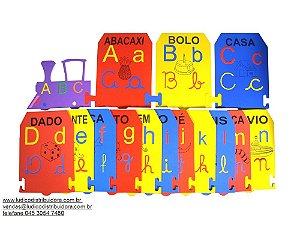 Alfabeto Ilust de parede - EVA - 55 peças - PVC enc.