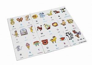 Alfabeto ilust EVA - 72 peças - Embalagem plástica