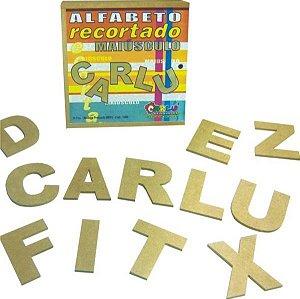 Alfabeto recortado maiusculo - MDF - 36 peças - Caixa MDF