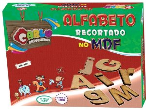 Alfabeto recortado pequeno MDF - 36 pc - Cx papel