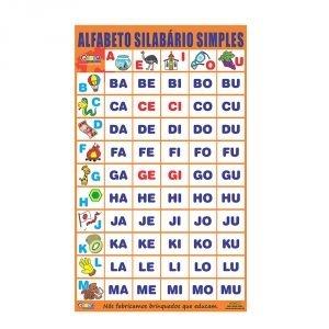 Alfabeto silabário simples - Embalagem plástico bolha