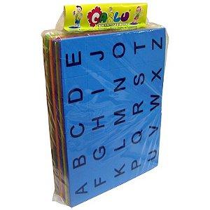 Alfabeto silábico EVA - 400 pecas - Embalagem plástica