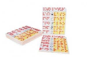 Braille - loto leitura ampliado - EVA - 126 peças - Embalagem plástica