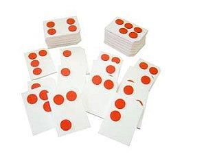 Braille Alfabeto colado EVA - 26 peças - Embalagem plástica