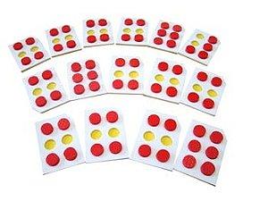 Braille Alfabeto vazado - EVA - 81 peças - Embalagem plástica
