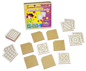 Braille memória testando a sensibilidade -MDF-20 pç-Caixa de madeira