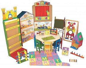 Brinquedoteca master - 34 itens - Caixas de papelão