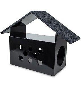CARLU PET HOUSE - ARRANHADOR LITTLE HOUSE PRETO