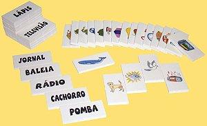 Cartas p/ ditado em EVA - 40 peças - Embalagem plástica