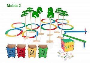 Ecoteca - 23 jogos - 2 maletas MDF - Caixa papelão