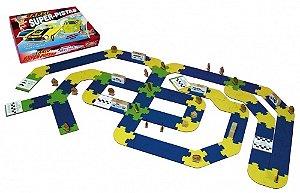Jogo carlu super-pistas - MDF - 184 peças - Caixa papel