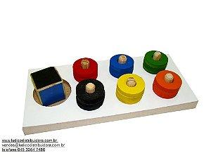 Jogo das cores - MDF - 19 peças - PVC enc.