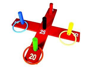 Jogo de argolas cruz - MDF - 10 peças - PVC enc.