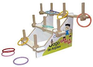 Jogo de argolas graduado - MDF - 31 peças - Caixa MDF