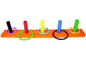 Jogo de argolas liso - MDF - 10 peças - PVC enc.