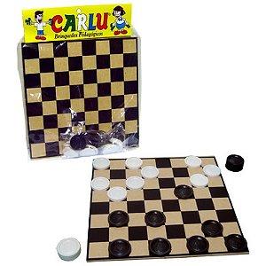 Jogo de damas 20 x 20cm - MDF - 24 peças - Embalagem plástica