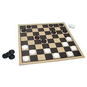 Jogo de damas 30x30cm - MDF - 24 peças plásticas - Embalagem plástica