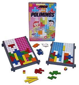 Jogo dos poliminos - MDF - 184 peças - Caixa papel