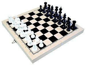 Jogo xadrez oficial - Rei 10cm - 32 peças - Caixa MDF