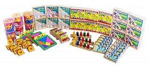 Kit FNDE 1 - matematica - 55 itens - Caixa papelão