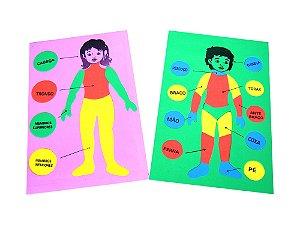 Kit psicomotricidade - EVA - 34 peças - Embalagem plástica