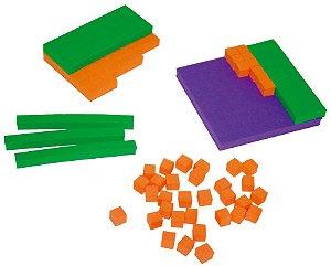 Material dourado EVA - 111 peças - Embalagem plástica