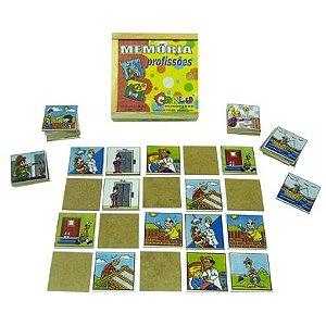 Memoria profissoes - MDF - 40 peças - Caixa de madeira