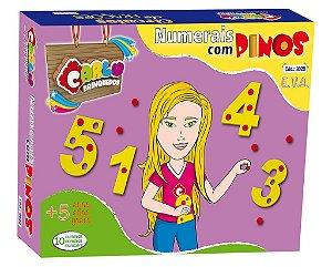 Numerais com pinos - EVA - 55 pc - Caixa Papel