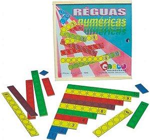 Reguas numericas - MDF - 61 peças - Caixa de madeira