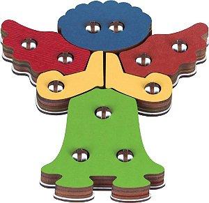 Religiosos - Troque encaixe cores - Anjo rezando MDF 24 peças - PVC enc.
