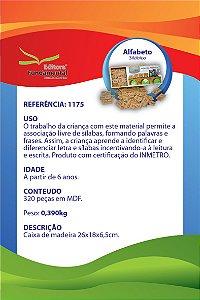 Alfabeto Silabico c/ 320 peças em mdf Cx. Madeira