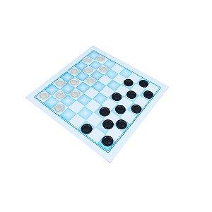 Jogo de damas 30x30cm - MDF - 24 pc plasticas - Emb. plast.