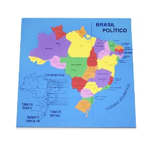 Mapa Brasil politico - EVA - Base MDF - PVC enc.