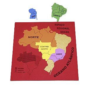 Mapa espaco regional - EVA - Base MDF - PVC enc.