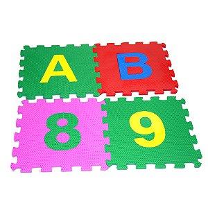Tapete alfanumerico gigante - EVA - 36 pc - Emb. c/ ziper
