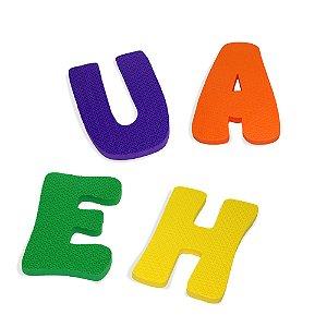 Alfabeto de letras gigantes - EVA - 36 pc - Emb. c/ ziper
