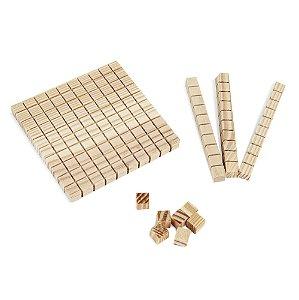 Material dourado individual 62 pecas - Mad. - Cx. mad.