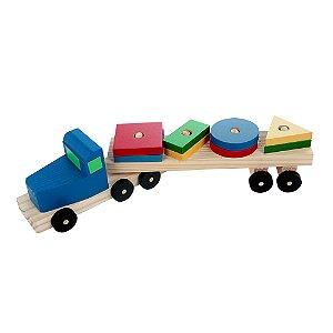Caminhão Transformas - Mad. - 8 pc - PVC enc.
