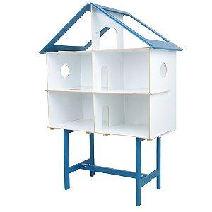 Casinha azul - MDF - 40 pc - Cx. papelao