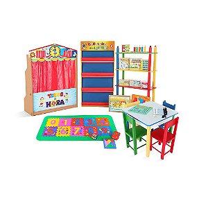 Brinquedoteca basica - 21 itens - Caixas de papelao