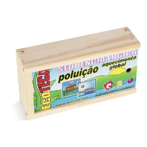 Sequençia lógica  poluicao / aq. global - MDF - 16 pc - Cx. mad.