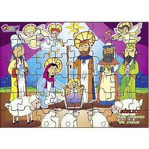 Quebra Cabeça biblico - Nascimento de Jesus - MDF 48 pc - Cx. Papel
