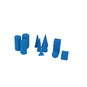 Solidos Geometricos de madeira 11 pc emb. plast.
